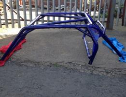 Buggy frame – R1 blue with sparkly laquer