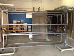 4M Trolley box frame, clean & prepared for coating
