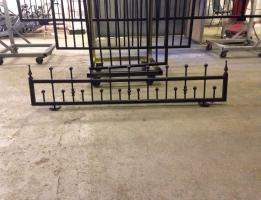 Small wall railing matt black