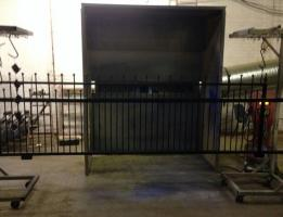 4.3m Sliding gate matt black