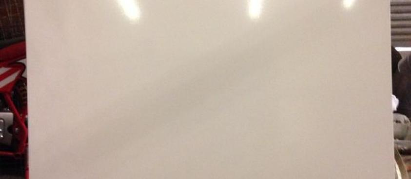 Gloss white elevator ceiling