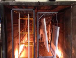 Box frames & elevator ceilings during curing process