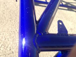 Close up – R1 blue with sparkly laquer